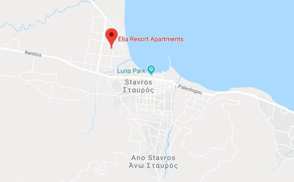 Elia Resort Position on Map - Link to Google Maps